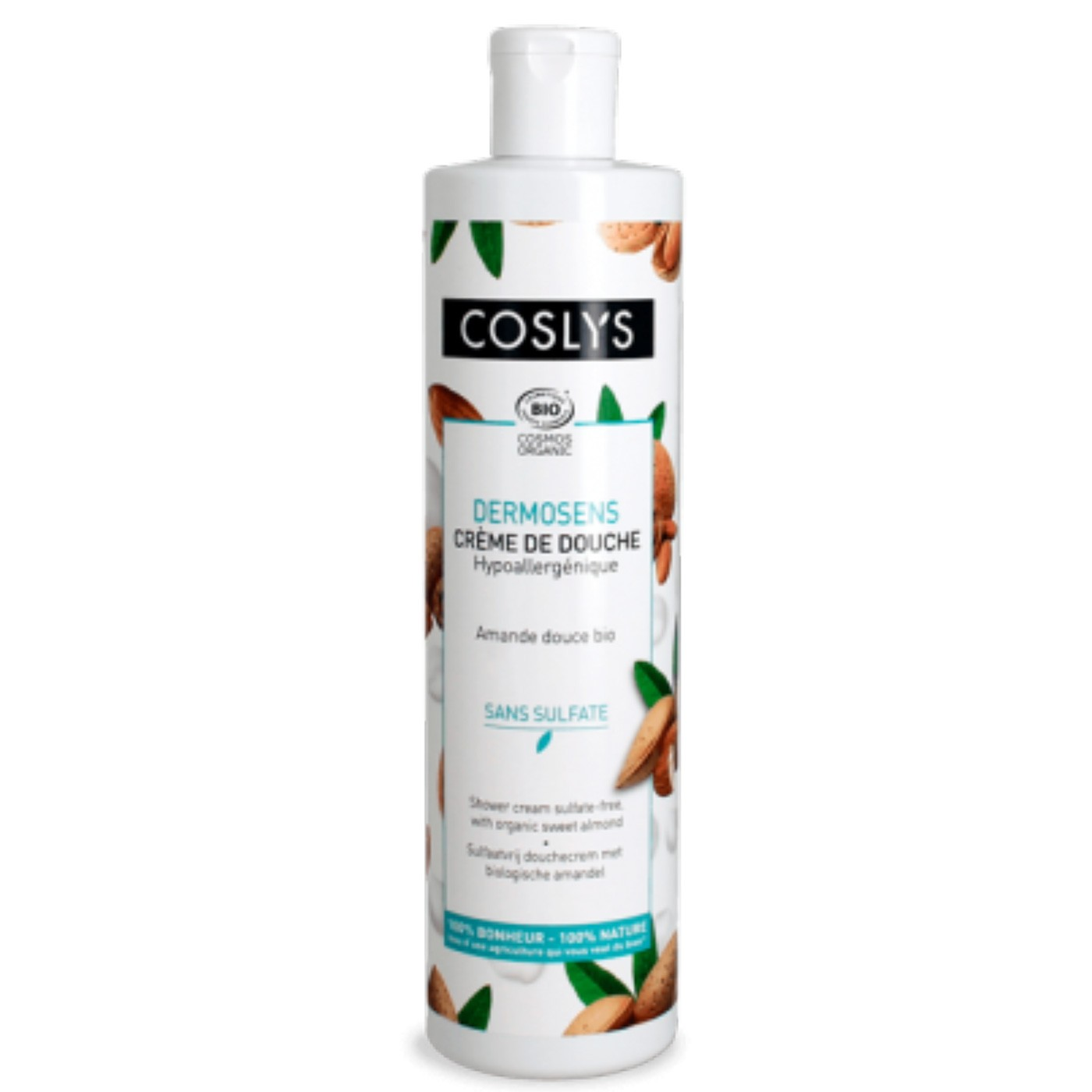 Crema de ducha sin sulfatos con almendra Coslys DERMOSENS 380ml